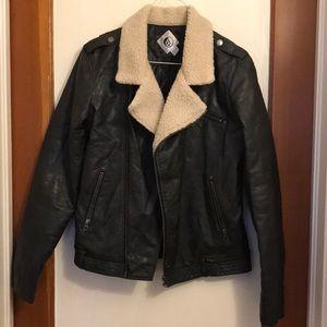 Volcom faux leather bomber jacket